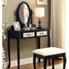Oreo Vanity Set with Mirror by A&J Homes Studio