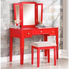 Candy Vanity Set with Mirror by A&J Homes Studio