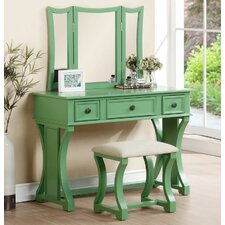 Nancy Vanity Set with Mirror by A&J Homes Studio