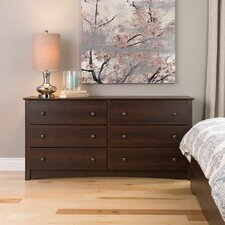 Penelope 6 Drawer Double Dresser by Latitude Run
