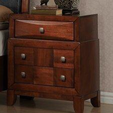 Oasis 3 Drawer Nightstand by Global Furniture USA