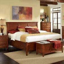 Platform Customizable Bedroom Set by A-America