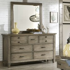 Armoise 7 Drawer Dresser with Mirror by Lark Manor