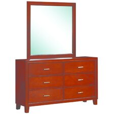 Acres 6 Drawer Dresser with Mirror by Darby Home Co®