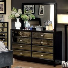 Strollini 8 Drawer Dresser with Mirror by House of Hampton