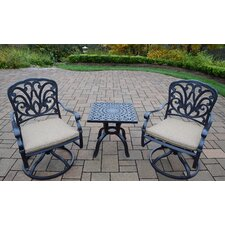 Hampton 3 Piece Dining Set with Cushions by Oakland Living