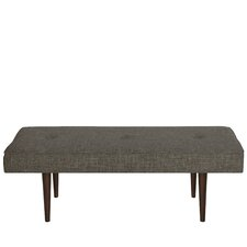 Foweler Tufted Woven Linen Upholstered Bedroom Bench by Brayden Studio®
