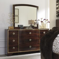 Cromer 9 Drawer Dresser with Mirror by Mercer41