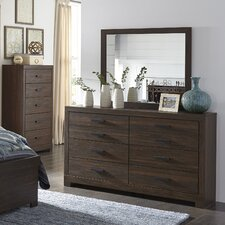 Caffey 8 Drawer Dresser with Mirror by Red Barrel Studio®