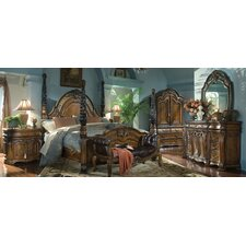 Oppulente Four Poster Customizable Bedroom Set by Michael Amini