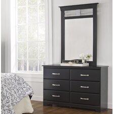 Trenton 6 Drawer Dresser with Mirror by Lang Furniture