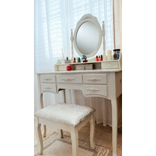 Cleopatra Grand de Lux Vanity Set with Mirror by White Label Co.