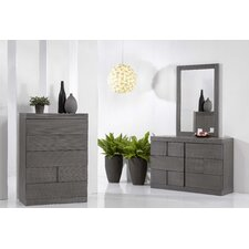 Yusuf 6 Drawer Dresser with Mirror by Wade Logan®