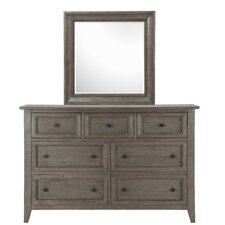 Carly 7 Drawer Dresser with Mirror by Laurel Foundry Modern Farmhouse