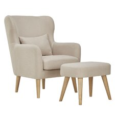 Branscome Club Chair and Ottoman