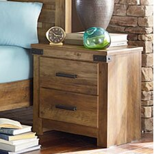 Piegan 2 Drawer Nightstand by Loon Peak®