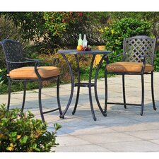 Largemont 3 Piece Bistro Set with Cushions by Sunjoy