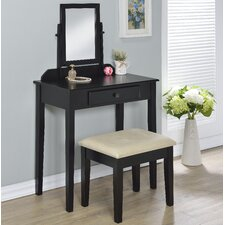 Percival Vanity Set with Mirror by Charlton Home®
