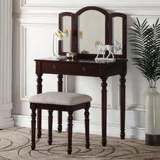 Elie Vanity Set with Mirror by Infini Furnishings