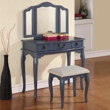 Esther Vanity Set with Mirror by Infini Furnishings