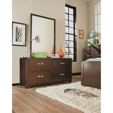 Sanibel 4 Drawer Dresser with Mirror by Latitude Run