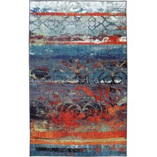 Vermont Blue/Red Area Rug