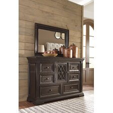 Althea 6 Drawer Combo Dresser with Mirror by Darby Home Co®
