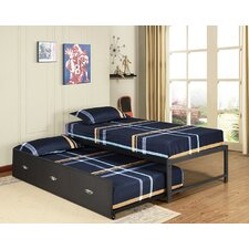 Clinton Daybed Frame with Trundle Frame by Zoomie Kids