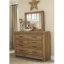 Aylesbury 6 Drawer Dresser with Mirror by Loon Peak®