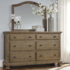 Battalgazi 6 Drawer Dresser with Mirror by Loon Peak®