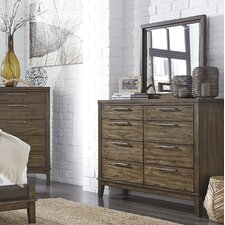 Labhira 8 Drawer Dresser with Mirror by World Menagerie