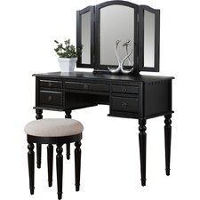 Palmer Vanity Set with Mirror by A&J Homes Studio