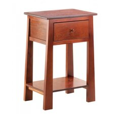 Contemporary Craftsman 1 Drawer Nightstand by Core of Decor