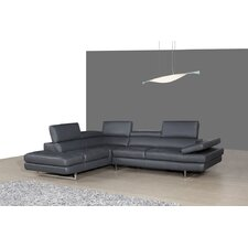 Amalfi leather sectional by j m furniture reviews loveseats for Amalfi sofa chaise