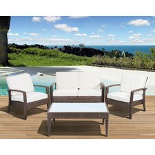 Aquia Creek 4 Piece Lounge Seating Group with Cushions by Beachcrest Home
