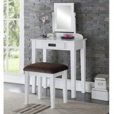 Hermosa Vanity Set with Mirror by A&J Homes Studio