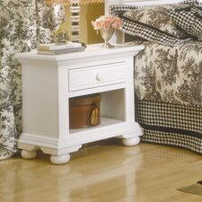 Cottage Traditions 1 Drawer Nightstand by American Woodcrafters