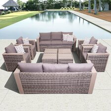 Aquia Creek 10 Piece Deep Seating Group with Cushions by Beachcrest Home