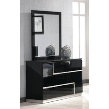 Lowrey 3 Drawer Dresser with Mirror by Wade Logan®