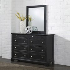 Marblewood 8 Drawer Dresser with Mirror by Alcott Hill®
