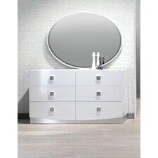 Mikolas 6 Drawer Dresser with Mirror by Wade Logan®