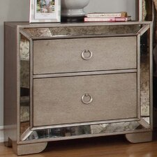 Chesmore 2 Drawer Nightstand by House of Hampton