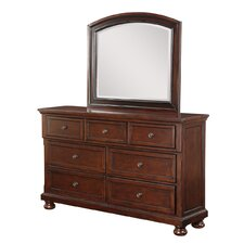 Elkland 7 Drawer Dresser with Mirror by Darby Home Co®