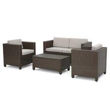 McIntosh 4 Piece Deep Seating Group with Cushion