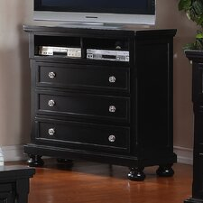 Jenna 3 Drawer Media Chest by Glory Furniture