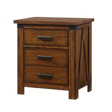 Cergy 3 Drawer Nightstand by Simmons Casegoods by Loon Peak®