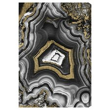 Emeric AdoreGeo Graphic Art on Wrapped Canvas in Gray/Yellow