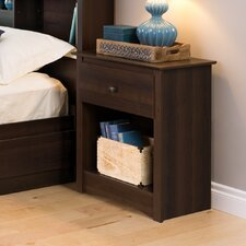 Penelope Tall Espresso 1 Drawer Nightstand by Latitude Run