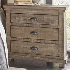 Yacine 3 Drawer Nightstand by Laurel Foundry Modern Farmhouse