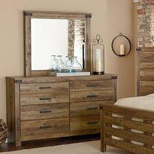 Piegan 6 Drawer Dresser with Mirror by Loon Peak®